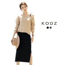 KODZ - Knitted Sweater Two-Piece Suit-171898-Winter