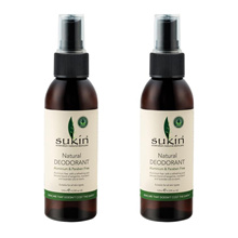 Sukin Natural Deodorant Spray (125mL) (2pcs)