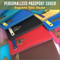 CHRISTMAS GIFT ✈ Passport Cover Travel Organizer Card Customised Wallet Office Personalised School