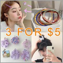 3 FOR $5 /Fashion Accessories /Head band / Facial Hair bands Hair Clips Kids Hair Tie / Hair pin