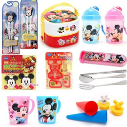 ★Micky Mouse / Minne Mouse★ Cup / Water Bottle / Spoon Fork Chopstick Case / Lunchbox (Given sweety)