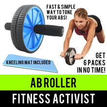 ⏰💪★★Ab Wheel Roller★★6-pack★★Includes knee mat cushion★★Stock posted from SG★★Fast Qxpress Delivery