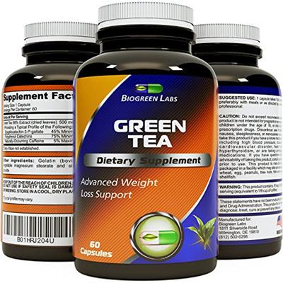 Green Tea - Weight Loss Pills - Detox Cleanse - Burn Belly Fat - Lose  Weight Naturally Fast - Dietar