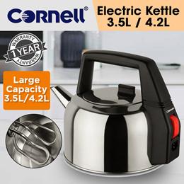 Cornell 3.5L / 4.2L Food Grade Stainless Steel Kettle (1 Year Warranty)