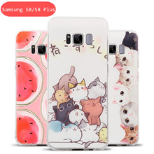 Samsung Galaxy S8/S8 Plus Shockproof Lovely Cartoon Phone Case Fashion Youth Colors (For S8 Plus)