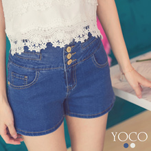 YOCO - Button Fly Denim Shorts-180877