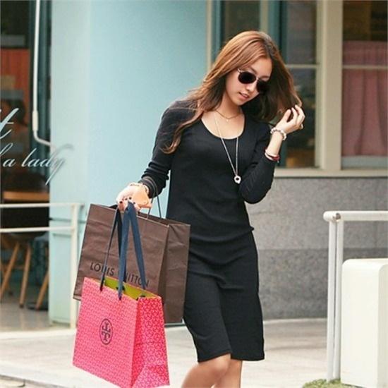 ピピン行き来するようにピピンロイジェンスリムフィットドレス31194 綿ワンピース/ 韓国ファッション