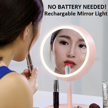 BUY 2 FREE SHIPPING! Round Ring vanity makeup Mirror rechargeable battery.Table Lamp. Organizer. Led