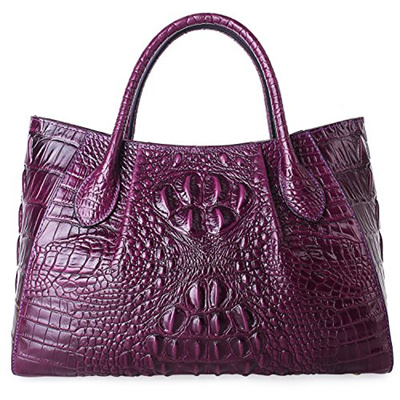 5c3723f3857 [PIFUREN] Designer Crocodile Top Handle Handbags Womens Genuine Leather  Tote Bags M1107
