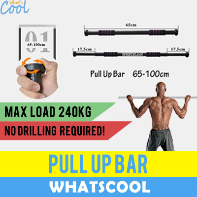 WhatsCoolPull Up Bar Doorway Chin Up Bars Hanging Push Up Sit Up Yoga  Exercise Abs Wall Mount Dumbbell Heavy