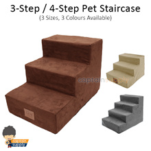 ★ 3-Step / 4-Step Pet Staircase ★ Dog Puppy Cat Stairs Step Ramp Cushion / Removable Cover