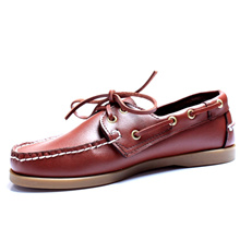 ★ Matt-toned Boat shoes for Mens! ★ Cow Leather! ★