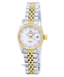 [CreationWatches] Orient Oyster Automatic Diamond Accent SNR16002W Womens Watch