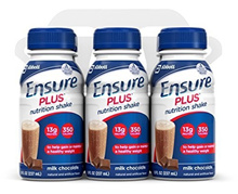 Ensure Plus Nutrition Shake, Milk Chocolate, 8-Ounce Bottle (Pack of 48)-