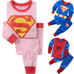 Baby Kids Boys Girls Pyjamas Sleepwear set Cartoon Batman Spiderman Sofia