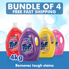 [Bundle of 4]Top Concentrated Liquid Detergent 4.0kg x 4 Sales