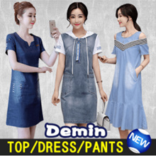 【The new spring and summer of 2017】Cultivate Ones Morality Fashion Denim Shirt/Pants/Dress ★ BUY 3 FREE SHIPPING ★ ★