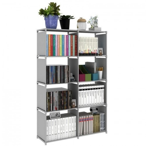 Multifunctional amp Portable DIY Book Storage Rack 5 Tier with 8 Columns Deals for only RM45 instead of RM45