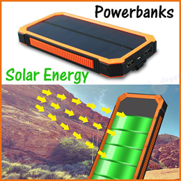 20000mAh Solar Power Bank ◆ Portable Outdoor Camping Travel Sports with Emergency LED Flash Light
