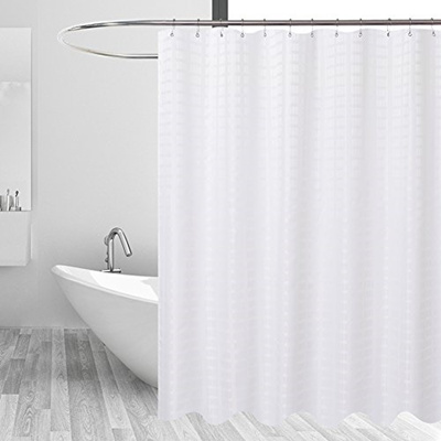 Barossa Design Fabric Shower Curtain White