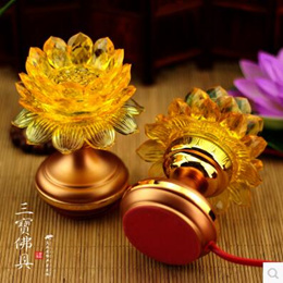 High-grade crystal LED lotus lamp flower lantern for the Buddha lights