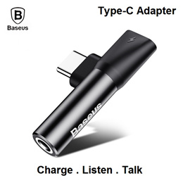 Baseus Type-C to Type-C + 3.5mm Audio Female Connector Jack Mini Adapter Charging Samsung Huawei