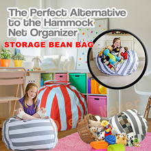 New Creative Modern Storage Stuffed Animal Storage Bean Bag Chair Portable Kids Clothes Toy Storage