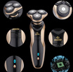 Waterproof Rechargable Men Three 3-Head Rotary 4D Shaver Cordless