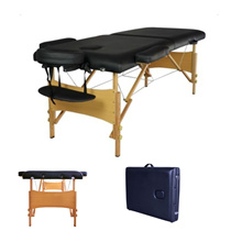2 Fold 84L Portable Massage Table Facial SPA Bed Tattoo w/Free Carry Case Black