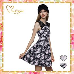 Mugigae♥Sandrine Lace Shoulder Dress ♥ XS to L