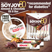 "1 Pack Soyjoy 80 Almond Chocolate [isi 8 pcs] ""recommended for diabetics"" GRATIS PIRING CANTIK"
