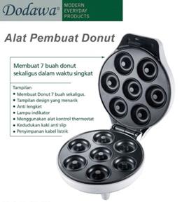 BARU!! *** DODAWA Alat Pembuat Donut mini Elektrik DD-632 ***