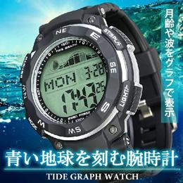 サーフィンや夜釣りにオススメ!海で大活躍!タイドグラフとムーンデータを搭載し、潮と月の状態を表示する腕時計【 ラドウェザー LAD WEATHER タイドグラフマスター 】
