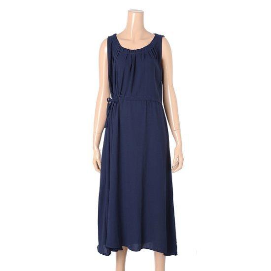 パパイヤ腰紐ロングナッシーワンピースCNHROP056B 面ワンピース/ 韓国ファッション