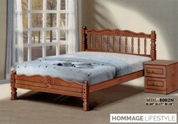 Solid Ramin Timber Queen Bed Frame