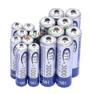 8 AA+8 AAA 1000mAh 3000mAh 1.2V BTY NI-MH Rechargeable Battery Cell/RC 0819MP3