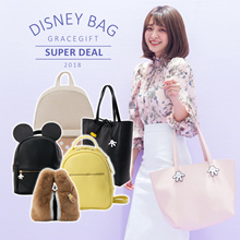 Gracegift-Disney Mickey Minnie Chip and Dale Backpacks Handbags/Women/Girls Bags/Taiwa
