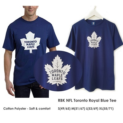 RBK NHL Toronto Tshirt Royal Blue