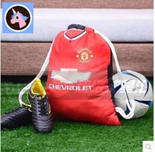 50 × 40CM 1415 season Manchester United home and away jerseys large rope shoe bag Drawstring backpac