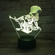 LoL Heros LED Night Light Touch Sensor 7 Color Changing Child Kids the Unforgiven Yasuo Table Lamp B