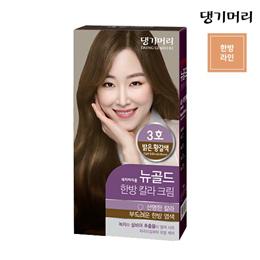 DAENG GI MEO RI New Gold Herbal Hair Color Cream No3 Light Yellowish Brown 134g