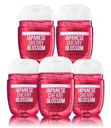 Bath and Body Works JAPANESE CHERRY BLOSSOM PocketBac Hand Sanitizer 1 oz (1 only)