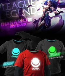 ☆ LOL Luminous Tee ☆ 100% Cotton Tee shirt ☆ LOL League of Legends ☆ Top / Dress / Unisex T-Shirt / Couple Tee
