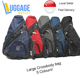 ★2 Designs 5 Colours★ Large Cross Body Bag / Chest Bag / Sling Bag for Casual Travel Everyday Use