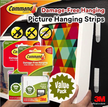 [Official E-Store] Command® Hanging Strips Value Pack (Various Sizes) - Non-Permanent / Removable
