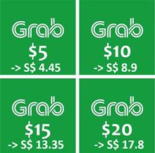 SG Grab $10 $15 $20 E-Voucher Code