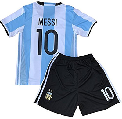 new style 8b01a f994d RussiaJRS 10 Messi Jersey 2018 Russia World Cup Argentina Home Soccer  Jersey Youth/Kids Jersey Short