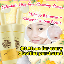 MKUP® Calendula Deep Pore Cleansing Mousse - Cleanse Light Make Up.