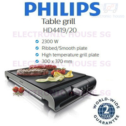 ★ Philips HD4419/20 Table Grill ★ (2 Years World-Wide Warranty)