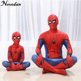 High Quality Spiderman Homecoming Cosplay Costume Tom Holland Spider Man Suit 2018 Homecoming Spider
